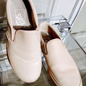 Vans Classic Slip On Leather Whispering Pink